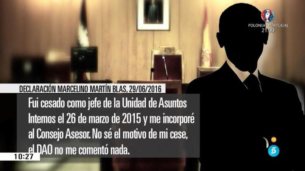 """Martín Blas, cauto al hablar de Villarejo: """"No tengo una enemistad manifiesta con él"""""""