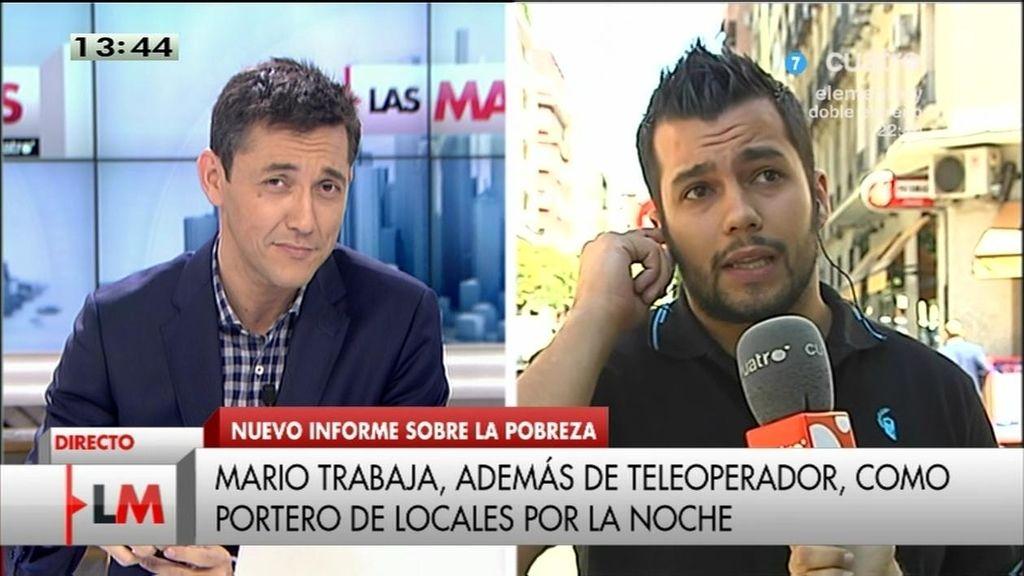 """Mario cobra 375 euros: """"Sin la ayuda de mis padres no llegaría ni al día 10 de cada mes"""""""