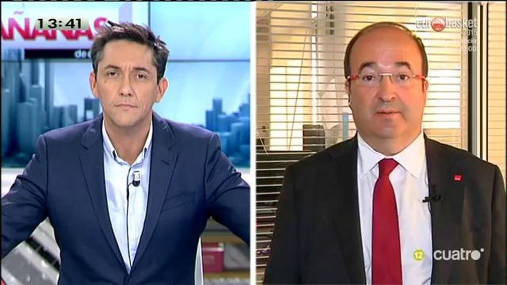 """Miquel Iceta, candidato del PSC: """"La apuesta de Mas se fundamenta en la estafa"""""""