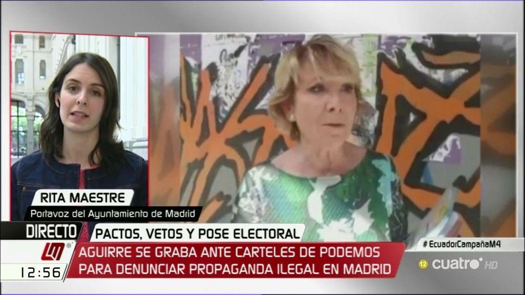 """Maestre, de Aguirre: """"Cuando uno no quiere rendir cuentas, tiene que buscar excusas"""""""