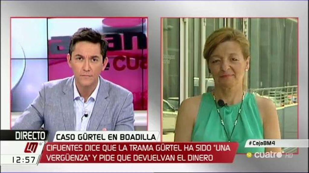 """Ana Garrido: """"Desde mi punto de vista, es una trama del PP, no contra el PP"""""""