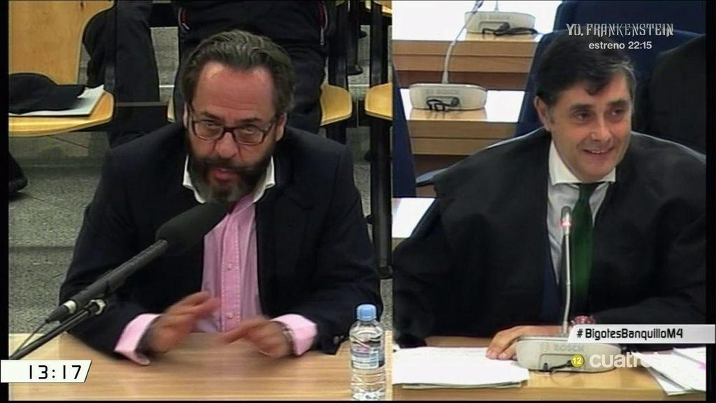 """El show de 'el bigotes' en el juicio: """"Le pido que me ate en corto"""""""