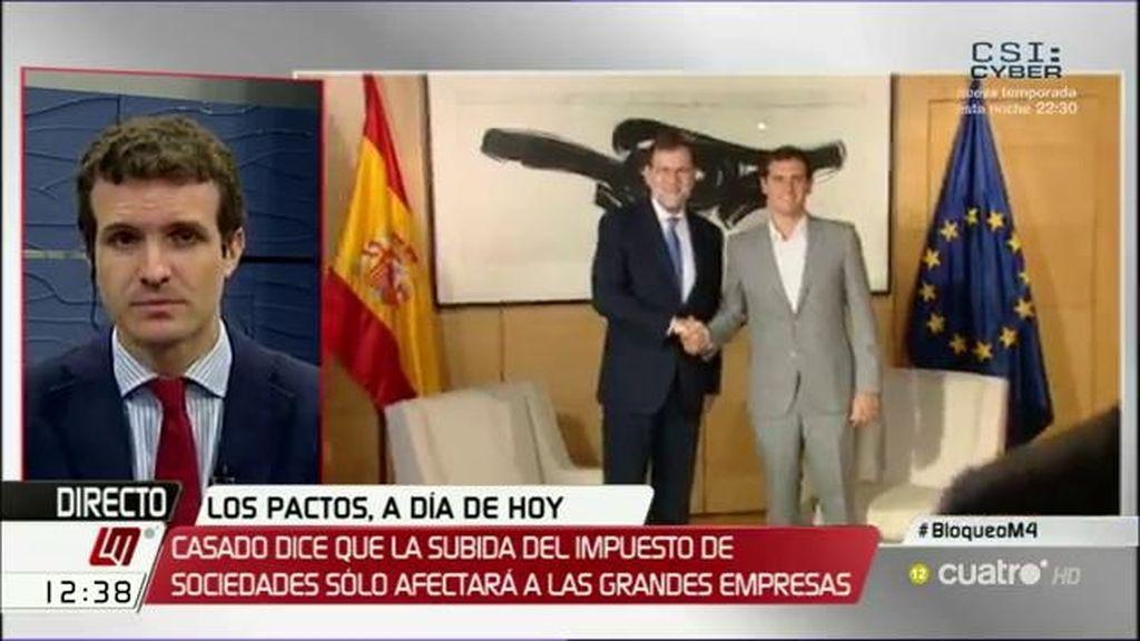 """Pablo Casado: """"El PSOE tiene que elegir si es parte del problema o de la solución"""""""