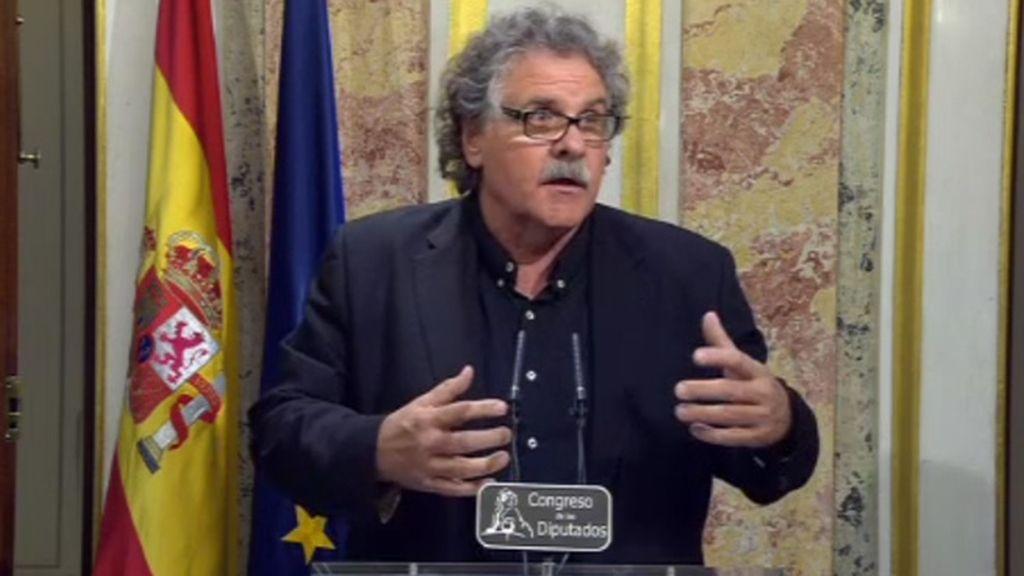 """Joan Tardà: """"Las derechas españolas necesitan un enemigo interior, los catalanes"""""""