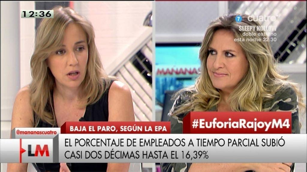 """T. Sánchez, a C.López: """"Lo que tú llamas sociedad dinámica, yo la llamo precarizada"""""""