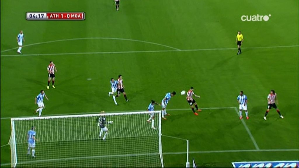 Gol de Aduriz (Athletic 1-0 Málaga)