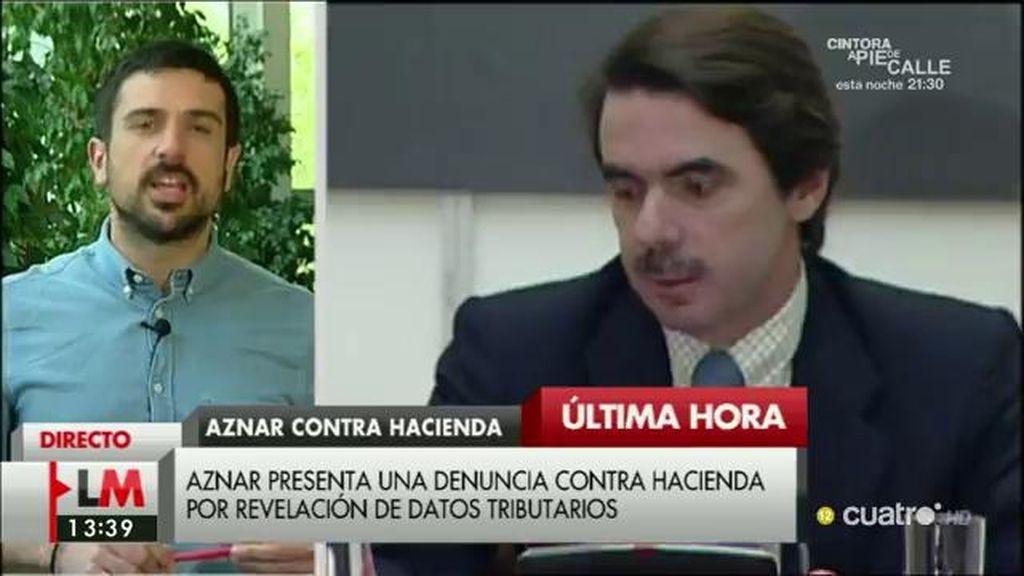 """Mensaje de Ramón Espinar a Aznar: """"Patriota no es usted, es quien tributa como es debido"""""""