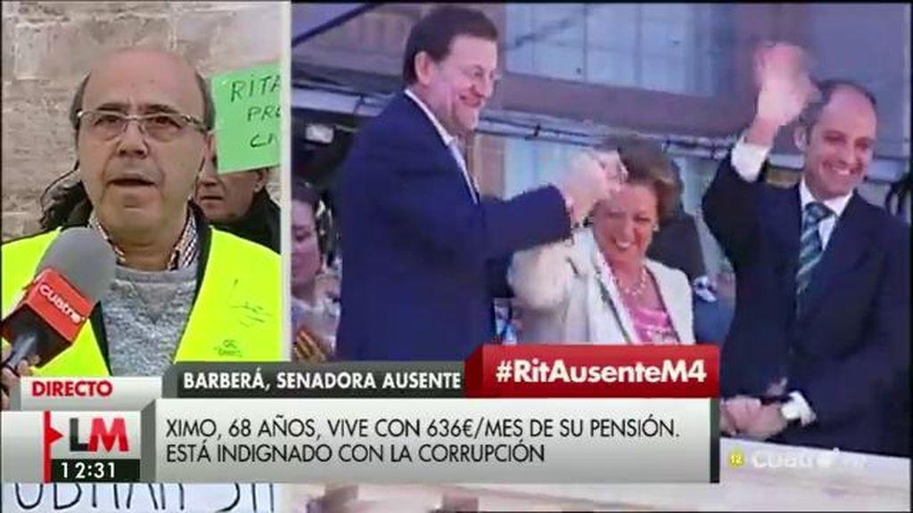 Los iaioflautas valencianos, indignados con la ausencia de Rita Barberá