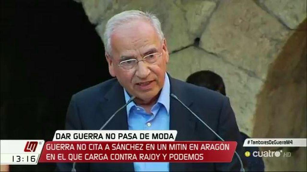 """Guerra: """"Este partido lo fundó Pablo Iglesias, el auténtico, el que no era narcisista"""""""