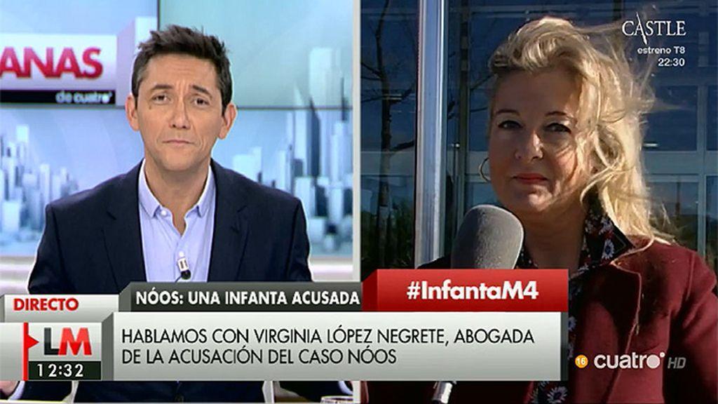 """Virginia López Negrete (Manos Limpias): """"Lo que ha aportado el Ministerio Público, para mí es papel mojado"""""""