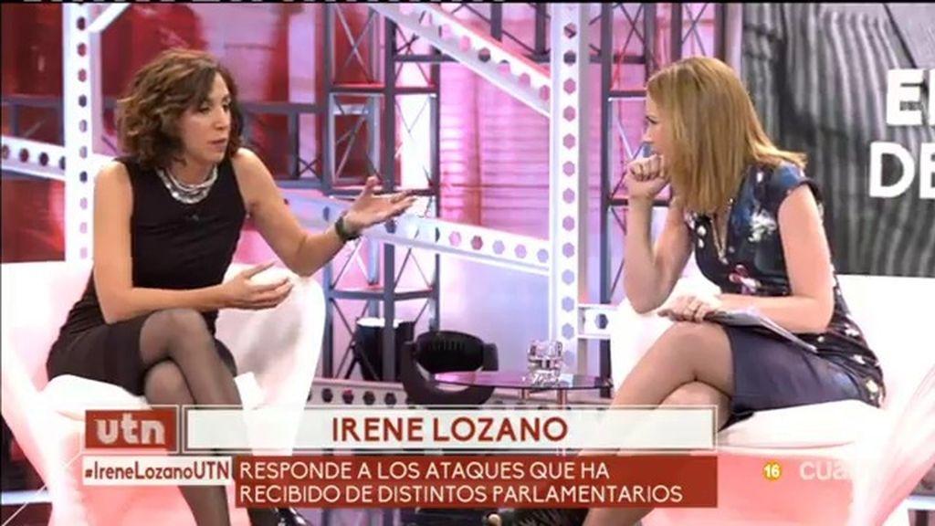 """Irene Lozano, a los críticos: """"Elogio el comportamiento del PSOE en el último año"""""""