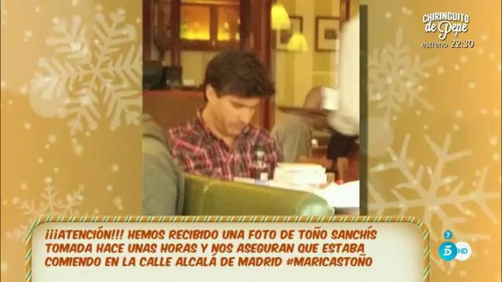 ¡Tenemos el paradero de Toño Sanchís!