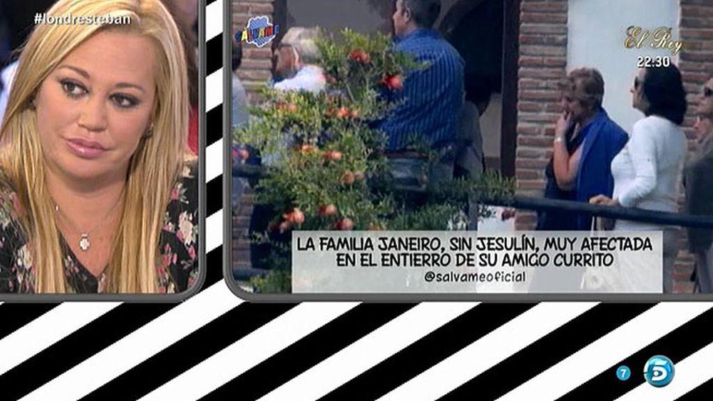 Belén Esteban manda el pésame a la familia Janeiro por el fallecimiento de un amigo