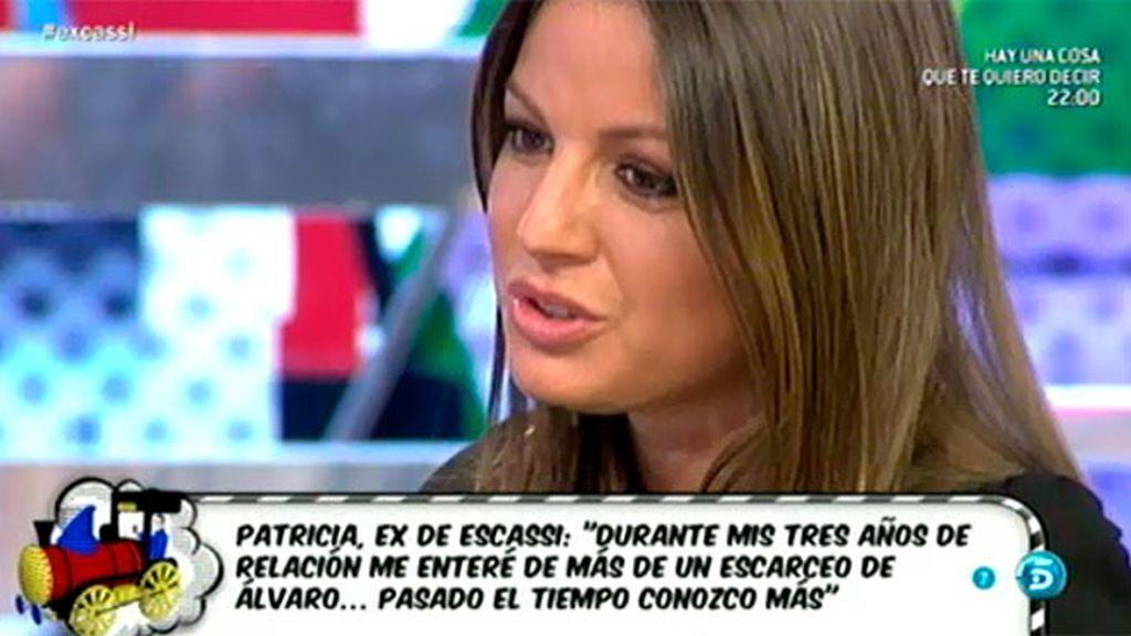 """Patricia sabía que Álvaro Muñoz Escassi le era infiel: """"Intentamos ponerle medios"""""""