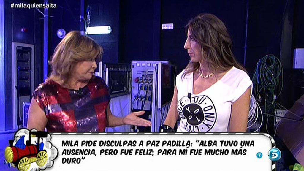 """Mila Ximénez, a Paz Padilla: """"Te pido discupas porque he entendido otra cosa"""""""