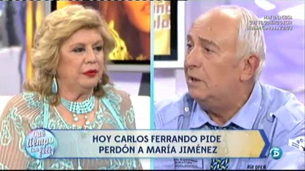 Carlos Ferrando pide perdon a María Jiménez