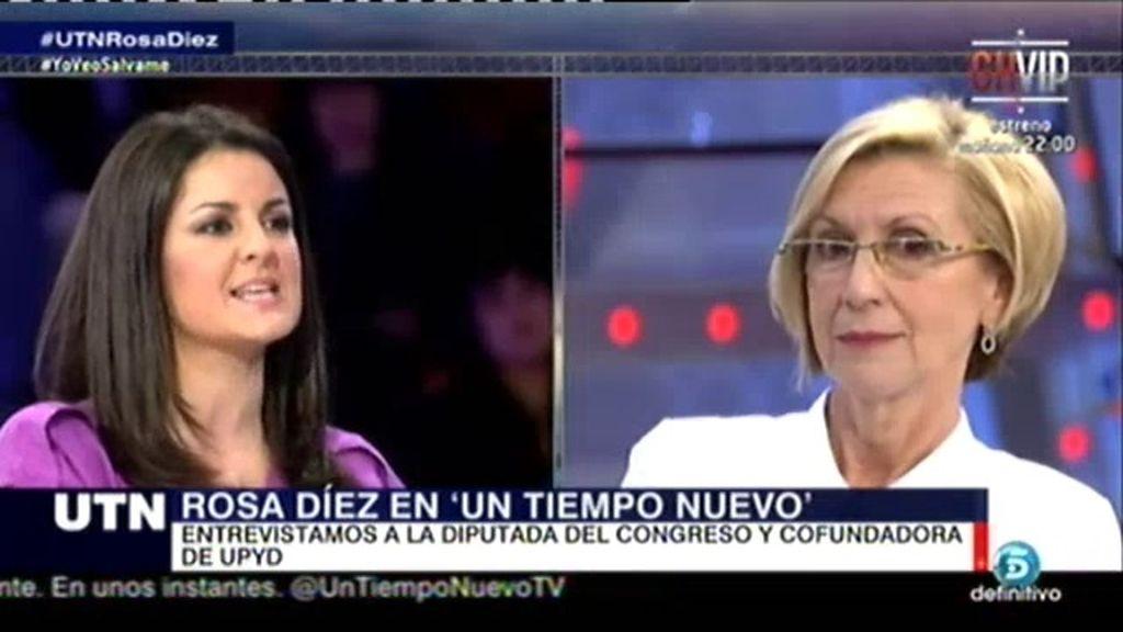 """Rosa Díez: """"Para pactar no me importan las siglas, solo las políticas"""""""