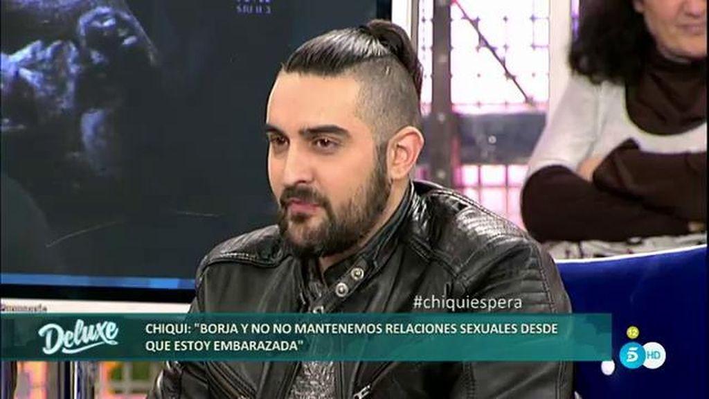 """Borja: """"Chiqui y yo no tenemos relaciones sexuales y me hago un 5 contra 1"""""""
