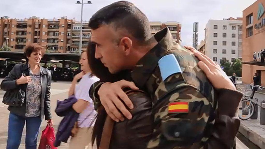 Momento más duro de los militares: la despedida de sus familiares