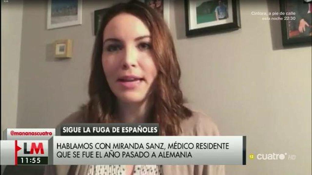 """Miranda: """"En España un médico joven ni siquiera puede independizarse"""""""