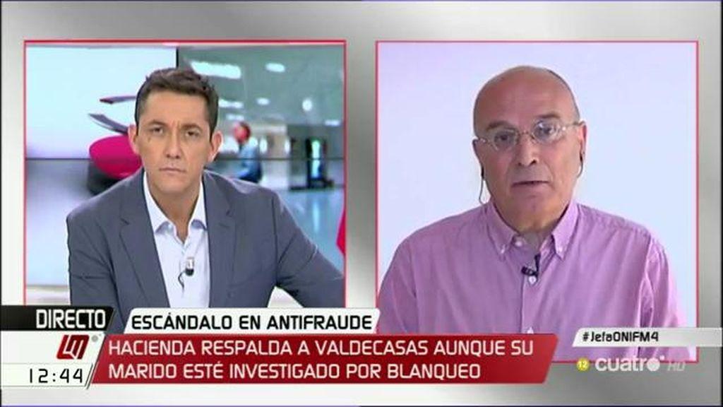 """Ignacio Ruiz Jarabo, de la directora de la ONIF: """"No debe seguir siendo la jefa de la Oficina de Investigación del Fraude"""""""