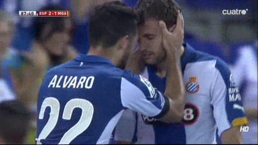 Stuani remató a la red un saque de esquina en el '87 para adelantar al Espanyol