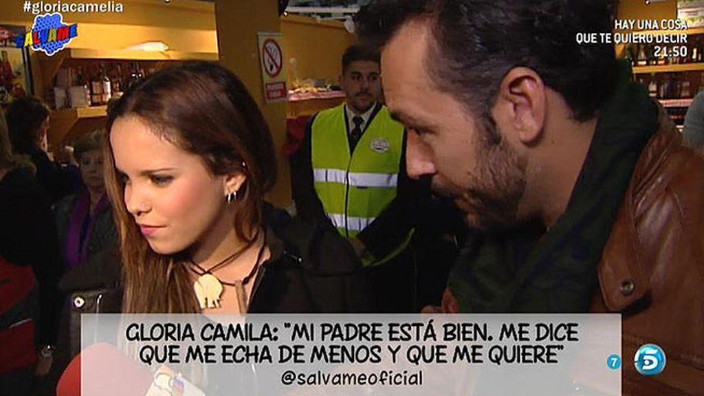 """Gloria Camila se sincera: """"Me gustaría estar con mi padre y mi hermano"""""""