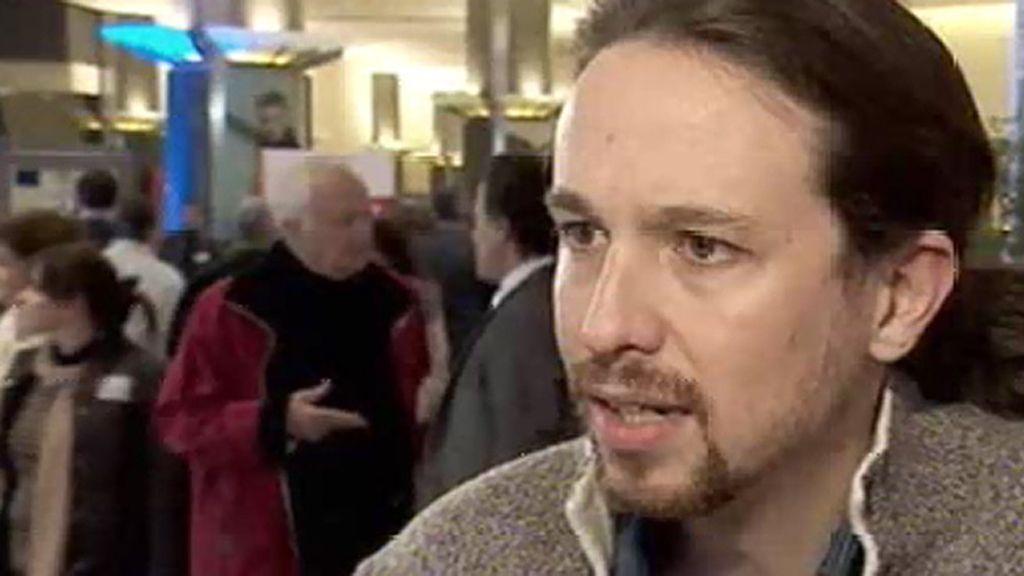 """Pablo Iglesias: """"Queremos llenar Madrid de banderas moradas, quizá el 2015 sea el año del cambio político"""""""
