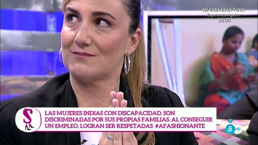 Carlota Corredera se emociona