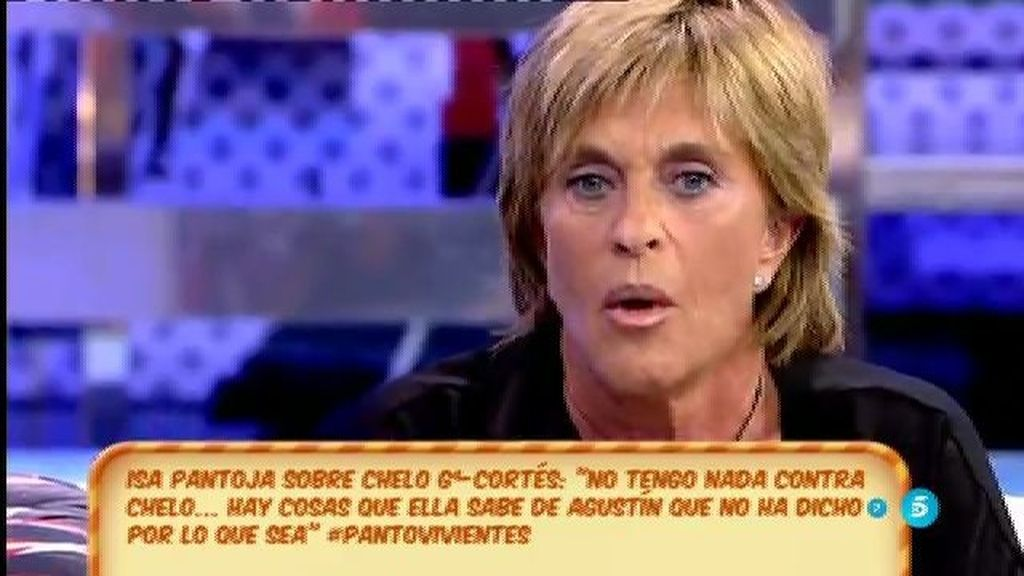 """Chelo García-Cortés : """"Ayer me sentí orgullosa de Chabelita"""""""