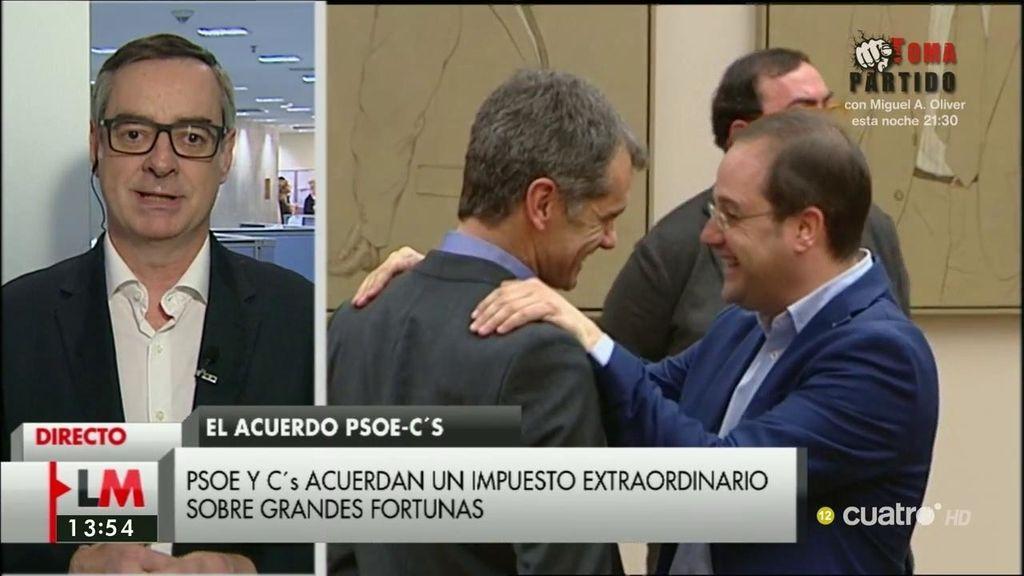 """J.M. Villegas: """"Vamos a llamar también al PP a que de alguna forma participe de ese pacto"""""""