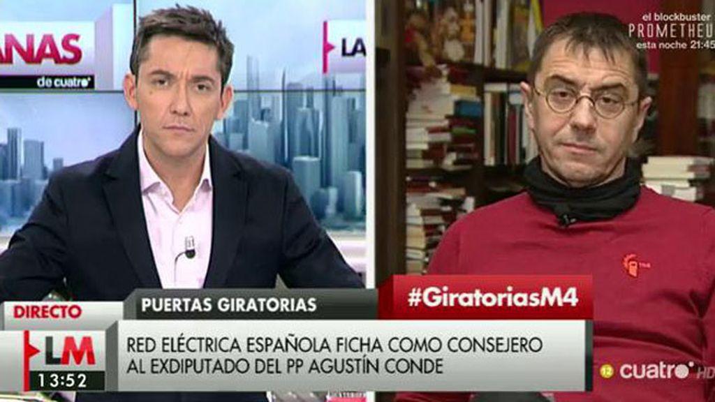 """Monedero: """"Hay que decirle a Sánchez que sea sincero y no nos trate como a idiotas"""""""