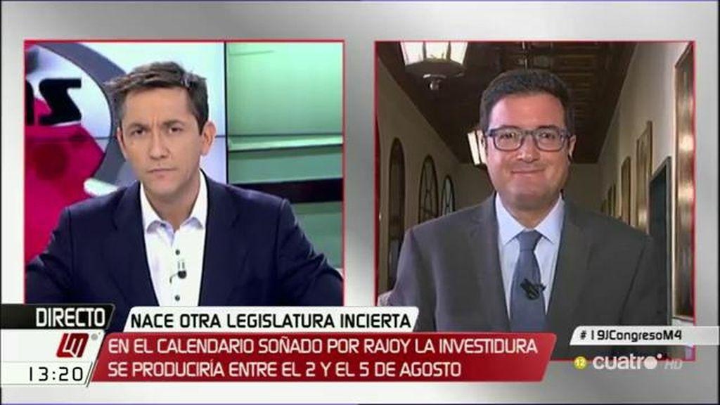 """Óscar López: """"He visto muy cariñoso al PP con Convergencia en el Congreso y con el PNV en el Senado"""""""