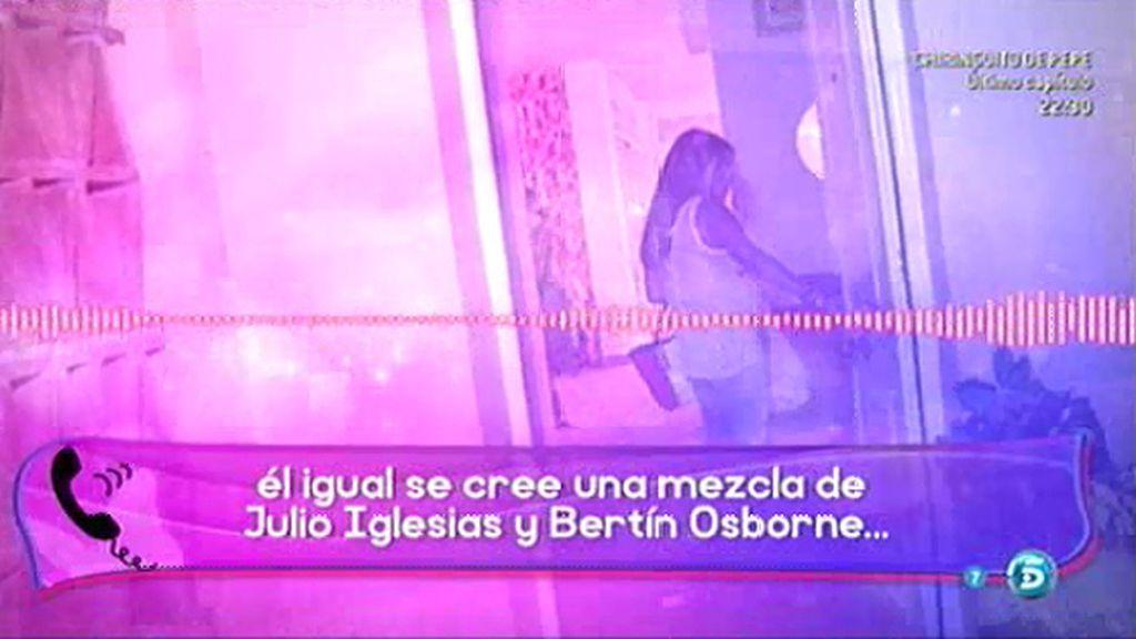 """Chabelita responde a Isla: """"Igual se cree una mezcla de Julio Iglesias y Bertín Osborne"""""""