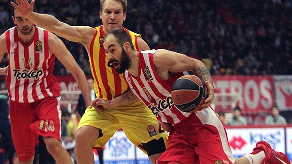 El Barcelona da un golpe de autoridad tras vencer en Grecia al Olympiacos (72-81)