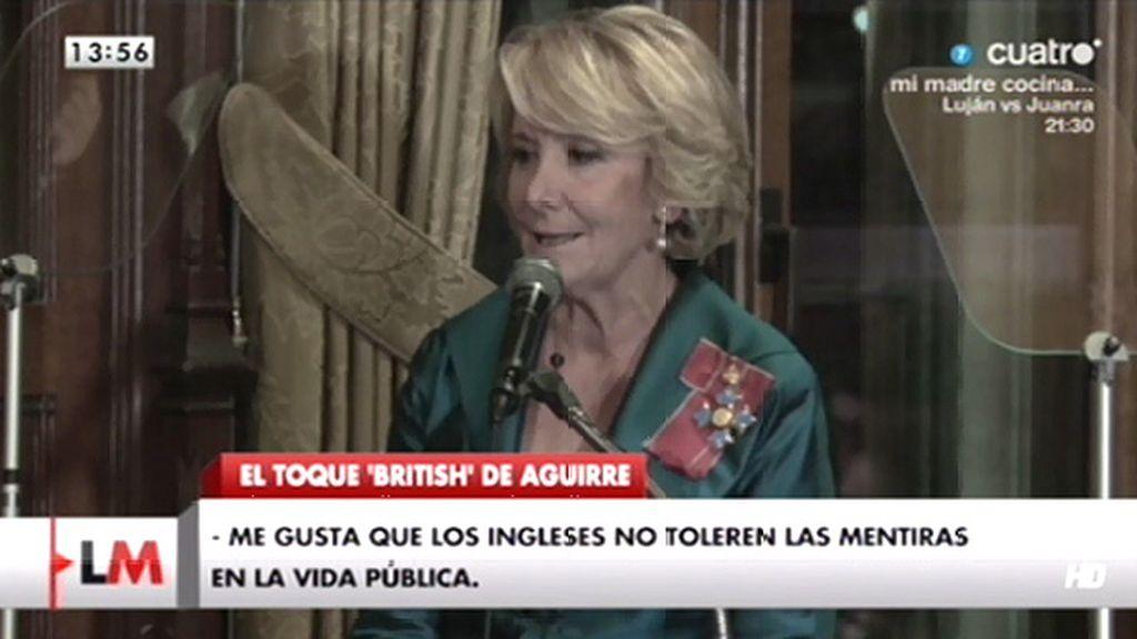 """Aguirre: """"Me gusta que los ingleses no toleren las mentiras en la vida pública"""""""