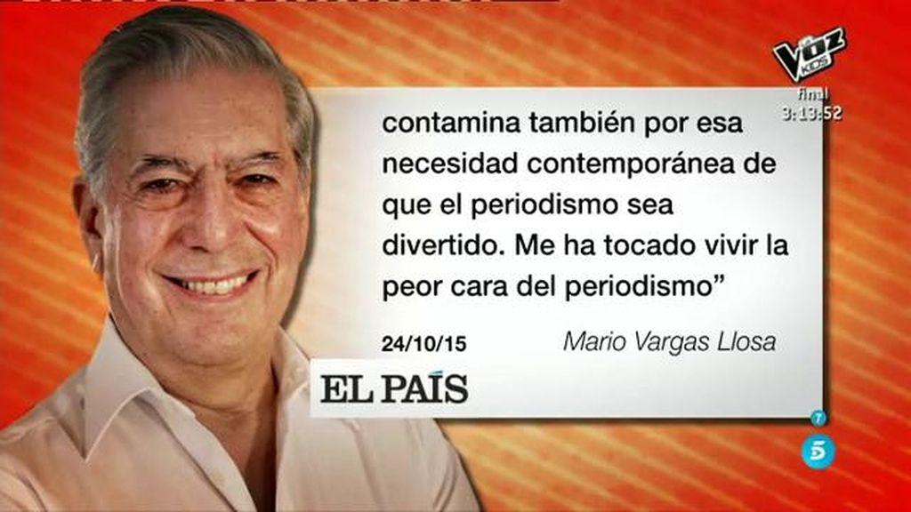 """Mario Vargas Llosa: """"Nunca he tenido la ilusión y el entusiasmo que tengo hoy en día"""""""