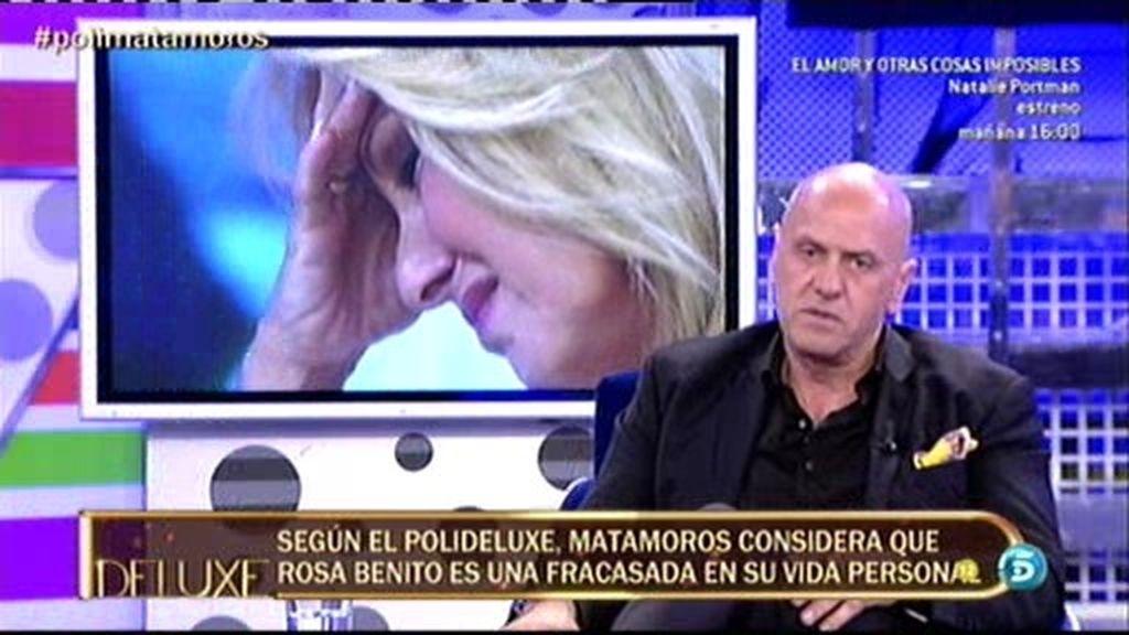 """Kiko Matamoros: """"Rosa Benito ha tomado decisiones para las que no estaba preparada"""""""