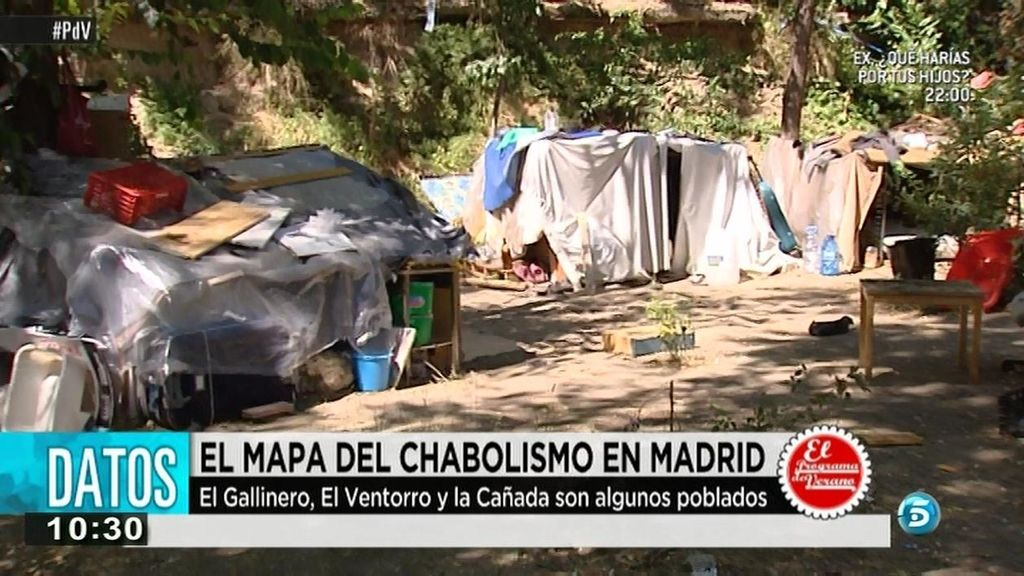 Un poblado de indigentes rumanos se instala en pleno centro de Madrid