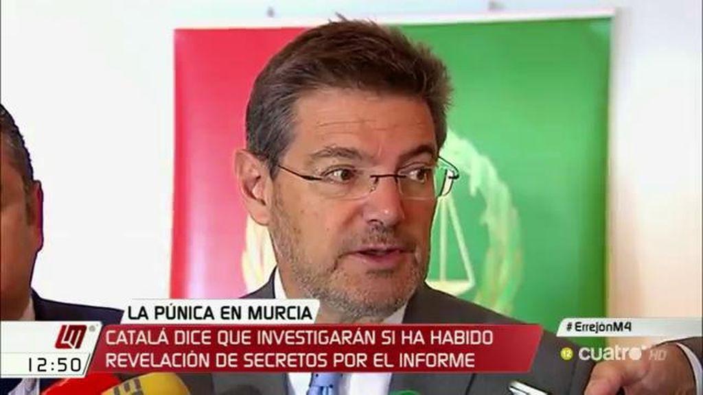 """Catalá: """"Si ha habido alguna revelación de secretos es un delito y se debería investigar"""""""