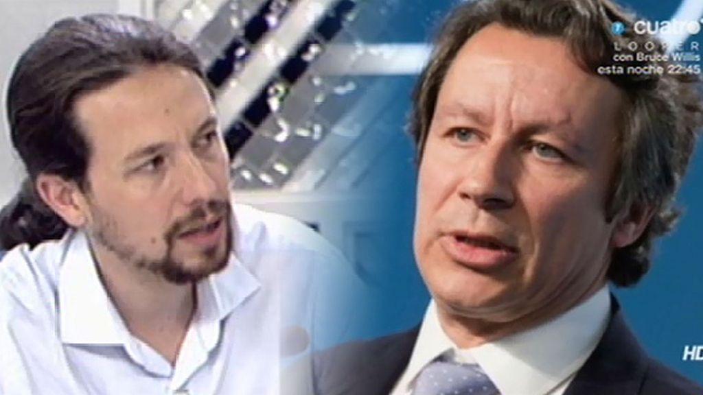 """Pablo Iglesias, a Carlos Floriano: """"No hacemos promesas, ofrecemos garantías"""""""