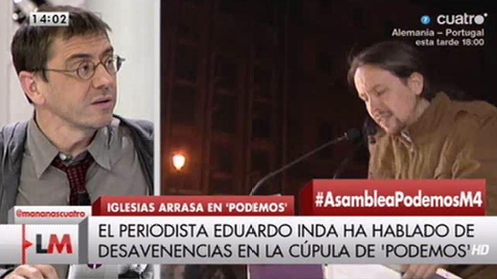 Juan Carlos Monedero niega tener una mala relación con Pablo Iglesias
