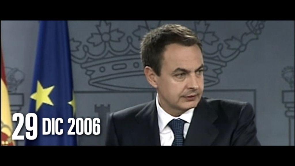 """Zapatero, sobre ETA: """"La tarea en que más empeño puse fue el diálogo con ETA"""""""