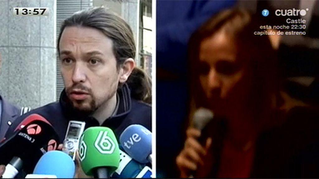 """Pablo Iglesias, sobre Tania Sánchez: """"Queremos a los mejores con nosotros"""""""