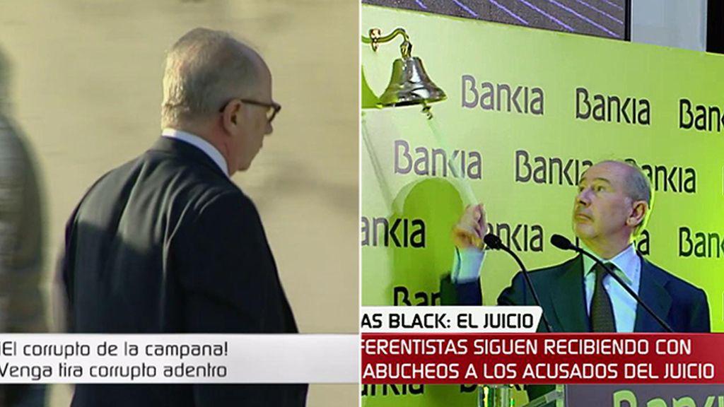 """""""¡Ahí va el tonto de la campana!"""": el recibimiento de Rodrigo Rato en los juzgados"""