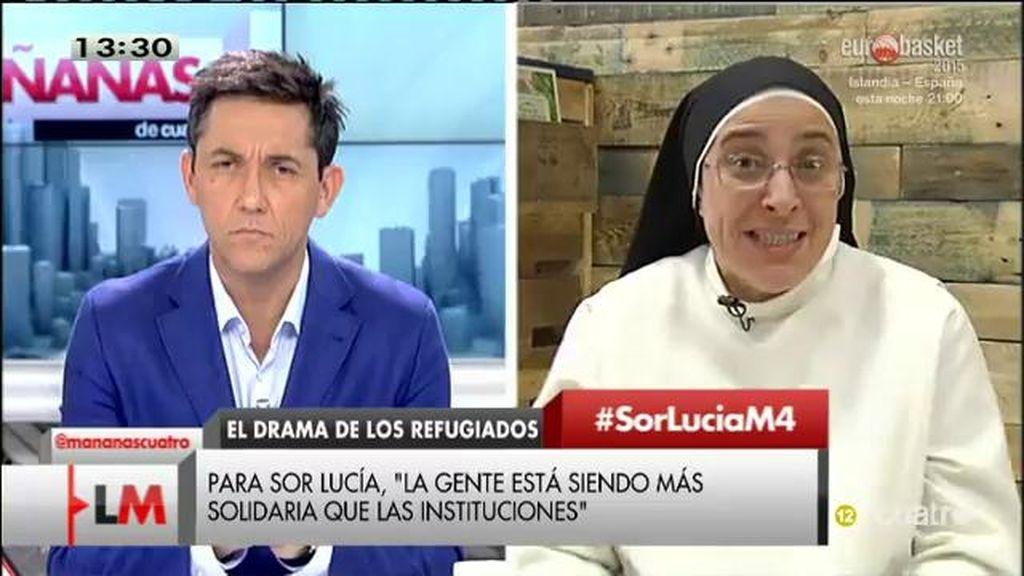 """Sor Lucía: """"Europa no será grande si no es capaz de acoger a quienes buscan refugio"""""""