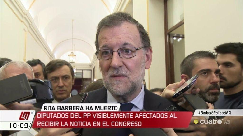 """Mariano Rajoy, tras el fallecimiento de Rita Barberá: """"Me siento enormemente apenado"""""""