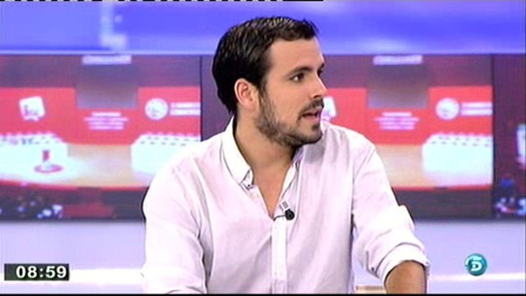 """Alberto Garzón: """"Pablo Iglesias está radicalmente en contra de ETA"""""""