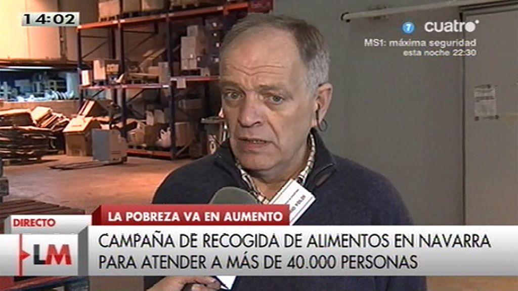 Recogida del banco de alimentos de Navarra por el aumento de la pobreza