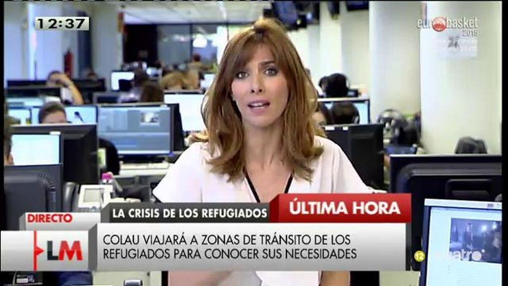 Ada Colau viajará a zonas de tránsito de los refugiados